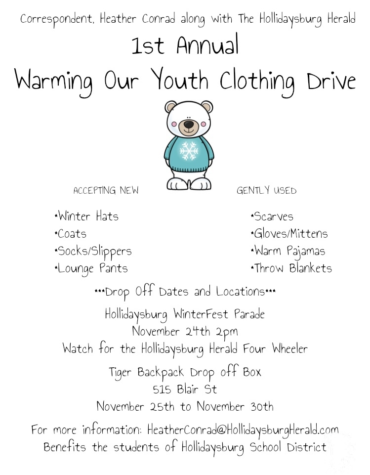 Hollidaysburg Christmas Parade 2020 First Annual Warming Our Youth Clothing Drive   Hollidaysburg Herald